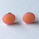 tiny oval stud orange/pink