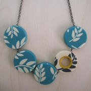 turquoise fern necklace