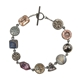 Antique Glass Button and Jewel Bracelet