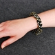 In a Twist Bracelet - Black & Gold-Silver - modelled
