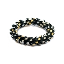 In a Twist Bracelet - Black Gold-Silver
