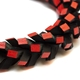 In A Twist Bracelet - Black & Red - detail