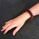 In A Twist Bracelet - Black & Red - modelled