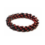 In A Twist Bracelet - Black & Red