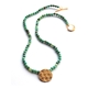 Interlaced Pendant on Chrysoprase Beads