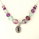 Iolite cabochon necklace