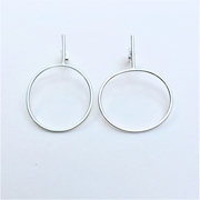 Irregular oval earrings