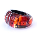 Red Hinged Bangle rounded