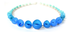 Jenny Llewellyn colourfade necklace - blue/green