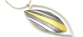 Jessica Briggs - Threads Leaf Pendant