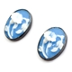 Blue vintage flower cameo earrings