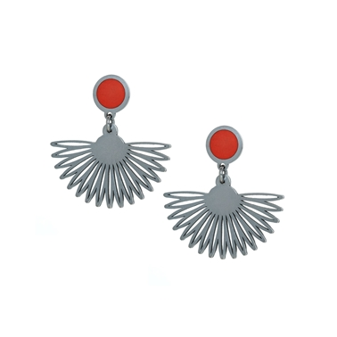 Red Egyptian earrings