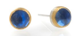 Josef Koppmann - Silver & Gold Sapphire earrings