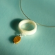 polypropylene and jasper pendant on silver cable