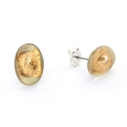 Tiny gold oval studs