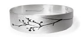Silver Bangle by Kate Smith