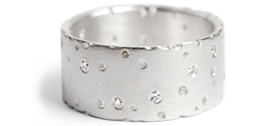 Kate Smith silver and diamond ring