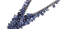 Kate Wood - Sapphire Tassel Necklace