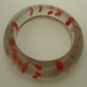 bangle trans grey and red blobs