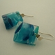 earrings mix turquoise dots