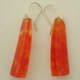 earrings trans yellow and red blobs
