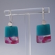 earrings turquoise and pink dots