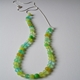 small bead necklace greens