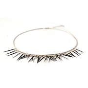 Black Small Short Fringe Necklace
