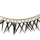 Black Small Short Fringe Necklace detail