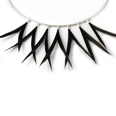 Black 7 Piece Symmetrical Necklace