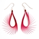Cerise Spiky Drop Earrings