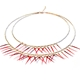 Double Small Short Fringe Necklace