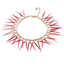 Fringe Bracelet in Mixed Reds