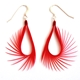 Red Spiky Drop Earrings