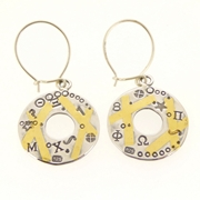Keum boo circle earrings two