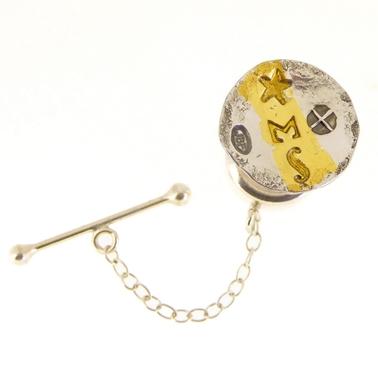 Keum boo concave tie tack | Contemporary Tie Pins by