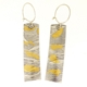Keum boo razor shell earrings, L