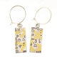 Keum boo rectangular earrings