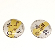 Keum boo round concave ear studs