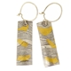 Keum boo razor shell earrings, M