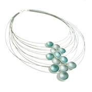 Multi Strand Enamel Necklace