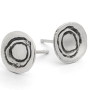 round etch earrings ox