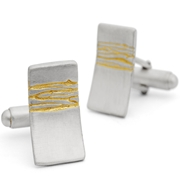 rectangular etched cufflinks gp