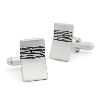 Etched cufflinks
