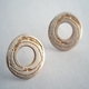 Spiral etched washer earrings 2