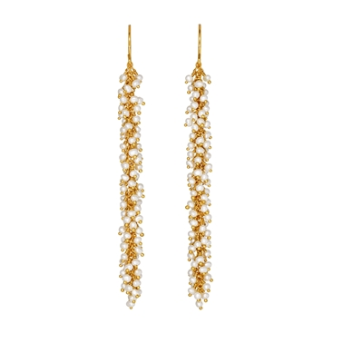 Pearl and Gold Catkin Earrings