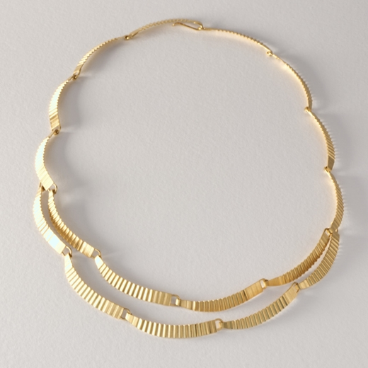 Kyoto necklace - gold-plated silver - 2  layer by Clara Breen