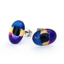 Purple mini oval studs 1