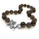 Lamella Smokey Quartz T-bar Necklace