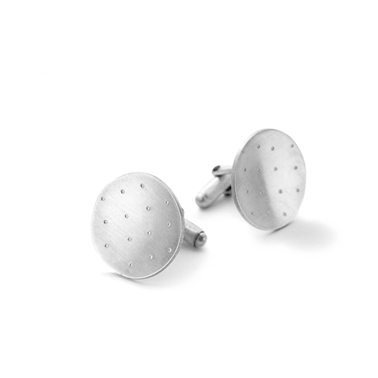 round dotty cufflinks